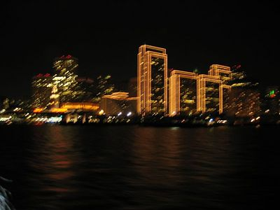 San Fran Boat Cruise/Dance - night view of downtown SF