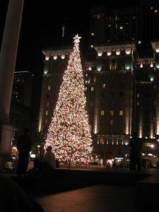 Christmas tree on Union Square, SF