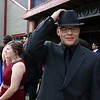 Montachusett Regional Vocational Technical School had their prom at Wachusett Mountain in Princeton on Friday night, May 11, 2018. Student Alex Meuer from Gardner rocks a hat at the prom. SENTINEL & ENTERPRISE/JOHN LOVE