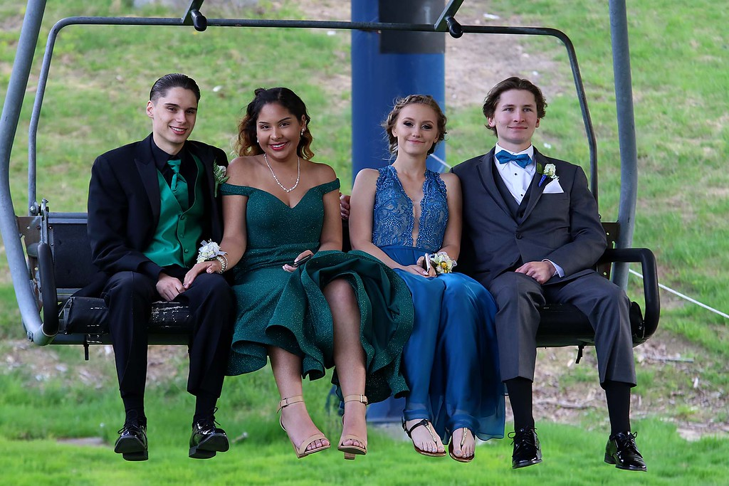 . Montachusett Regional Vocational Technical School had their prom at Wachusett Mountain in Princeton on Friday night, May 11, 2018. SENTINEL & ENTERPRISE/JOHN LOVE