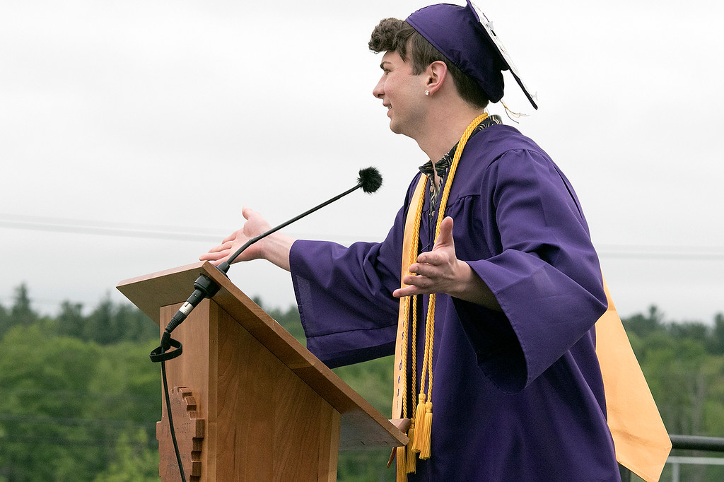 . Scenes from the Montachusett Regional Vocational Technical School\'s graduation ceremony on Wednesday night, May 29, 2019. SENTINEL & ENTERPRISE/JOHN LOVE