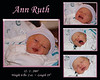 Ann Ruth Montage (8x10) 2 days old in the hospital