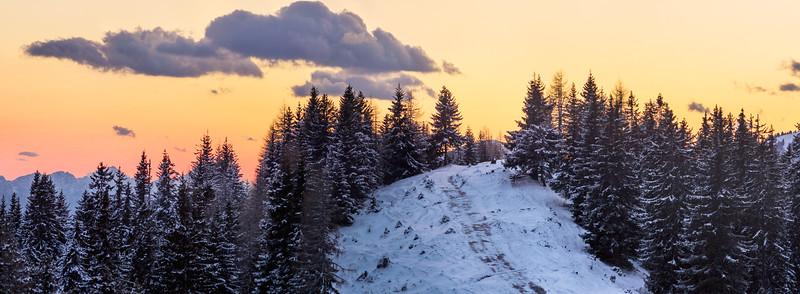 Alpi Carniche al crepuscolo dall'Acomizza 080412-222541 v101#SX