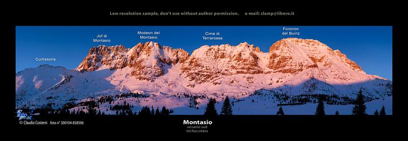 Gruppo del Montasio, versante sud, Val Raccolana - foto n° 300104-858506