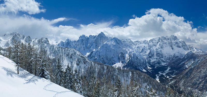 Gruppo del Montasio, versante nord, Val Saisera - foto n° 080404-452735