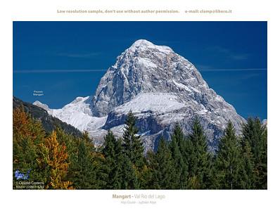 Il Mangart visto dalla Val Rio del Lago - foto n° 270901-4265