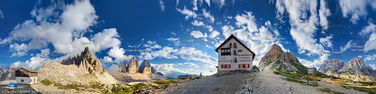 Dolomiti di Sesto vicino al rifugio Locatelli  Foto Claudio Costerni n. 060809-81818218