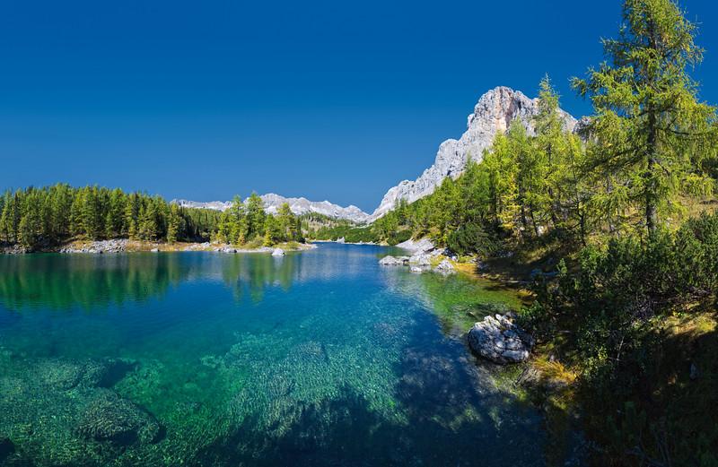 Valle dei sette laghi del Triglav, Lago Doppio.   Foto n° 240907-313365
