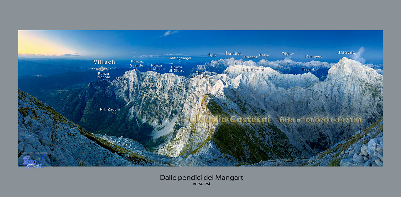 Alpi Giulie orientali dal versante orientale del Mangart - foto n° 060703-347181