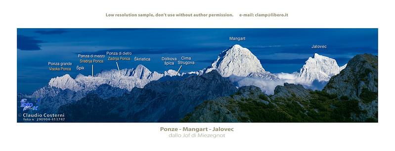 Alpi Giulie orientali viste dallo Jof di Miezegnot - foto n° 290904-413747