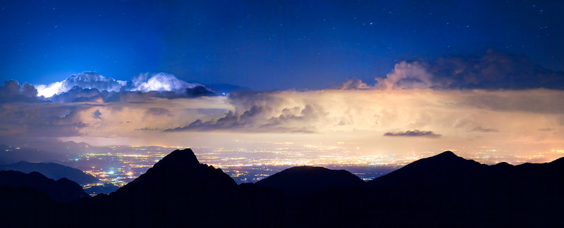 Temporale di notte dal Lovinzola - foto n° 110712-805358