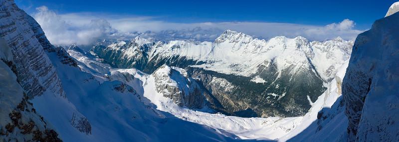 Gruppo del Montasio, versante sud, Val Raccolana, Alpi Giulie, Italia