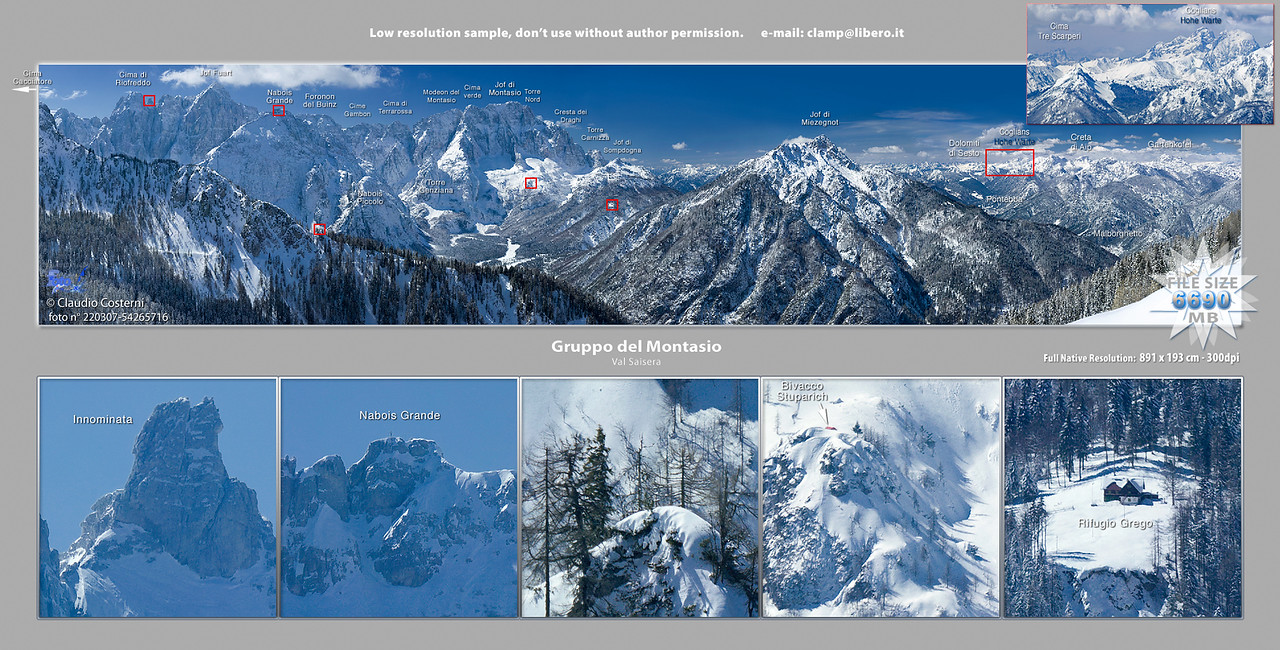 Gruppo del Montasio, versante nord, Val Saisera, Alpi Giulie, Italy