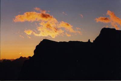 Dal rifugio verso il Piccolo Lagazuoi - al tramonto