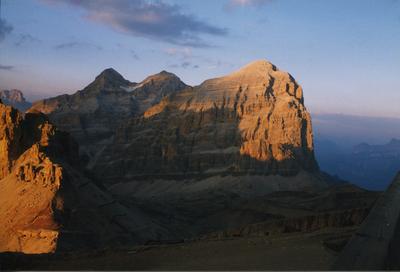Tofana di Rozes al tramonto, dal rifugio Lagazuoi