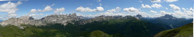 Panorama dal Col di Lana
