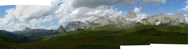 Panorama tornando dal monte Pore