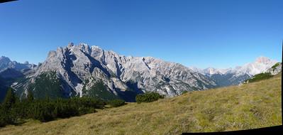 su Monte Piana: verso il Cristallo