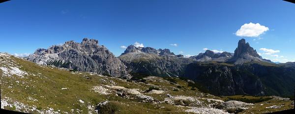 su Monte Piana: verso tre Cime e Baranci