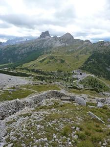Panorama dalle postazioni austriache sopra passso Falzarego