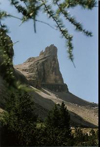 Il Castelletto di Tofana visto dalla val Travenantes