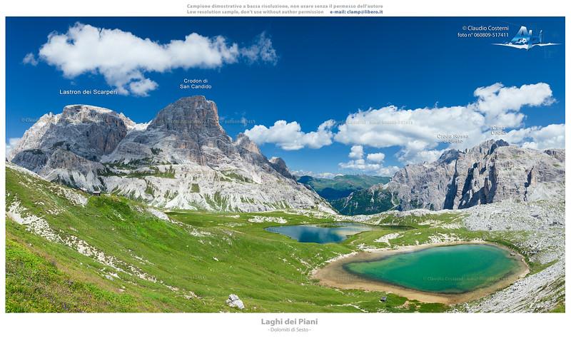 Laghi dei Piani - Dolomiti di Sesto<br /> <br /> Foto Claudio Costerni n.060809-517411 (crop 1)