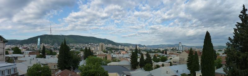 Tbilisi, dalla terrazza dell'albergo