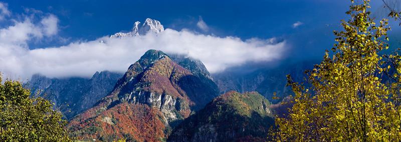 Gruppo del Montasio, versante ovest, Val Dogna, Alpi Giulie, Italy