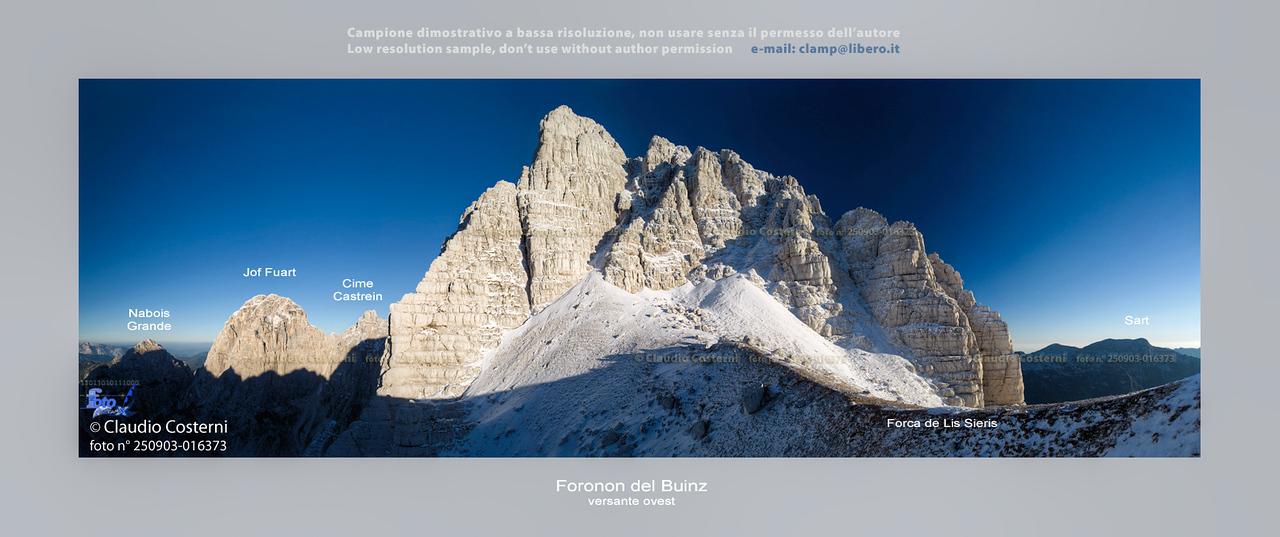 Gruppo del Montasio: il Foronon del Buinz visto nei pressi della Forca de Lis Sieris