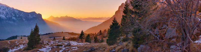 Tramonto dall'altopiano del Montasio - foto n° 290116-181055