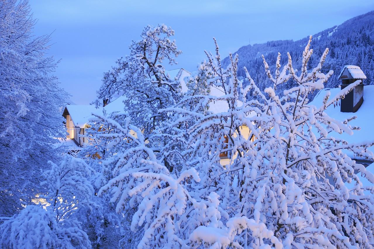 Camporosso, nevicata primaverile