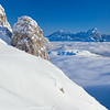 Dal Gartnerkofel mare di nubi verso il Montasio 160110-725489