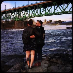 Jordan & Raina Below the Dam, Turners Falls, MA