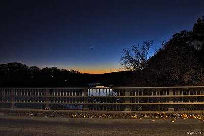 Sunset from the Bridge, Turners Falls/Greenfield, MA