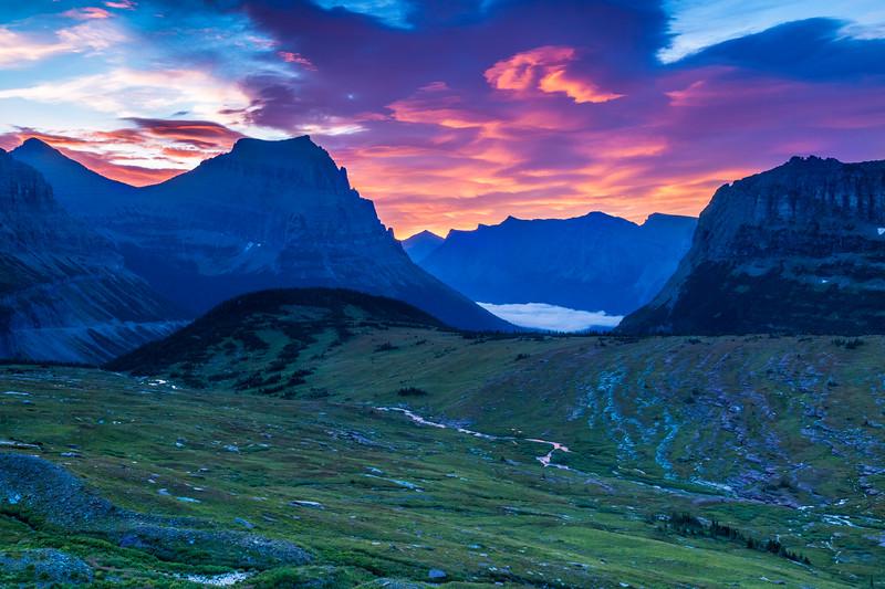 Sunrise at Logan Pass