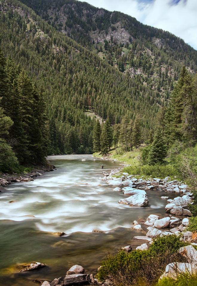 Fishing the Gallatin River