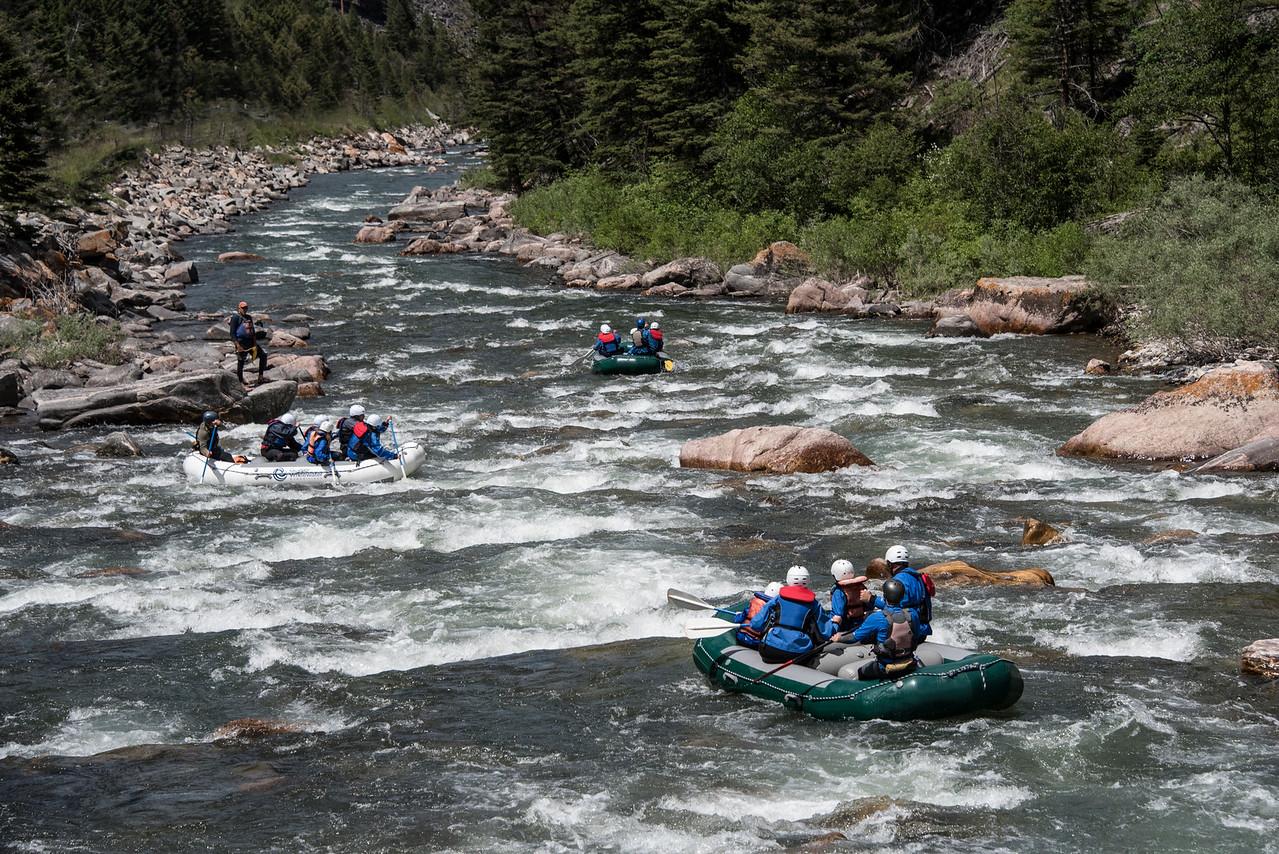 Three Rafts in the Rapids