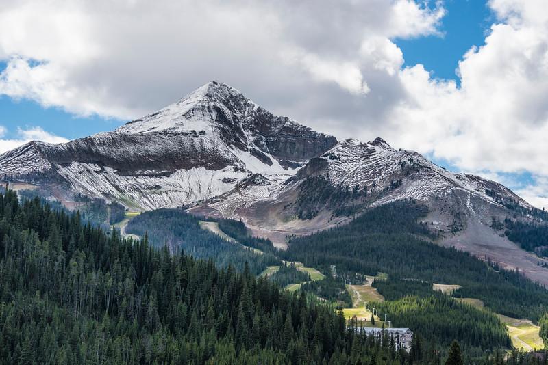 Lone Peak with Snow July 28-2015