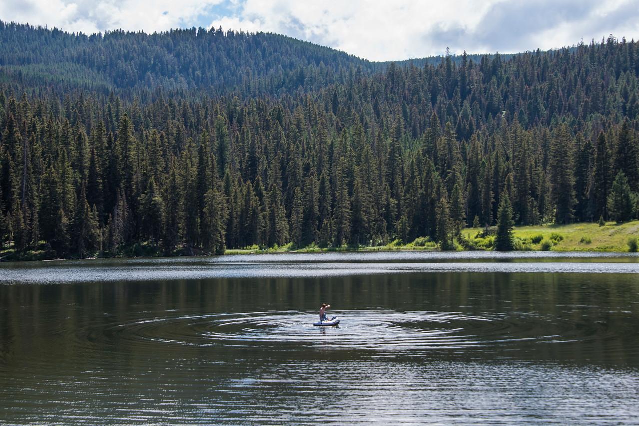 Boy on Raft-Rat Lake