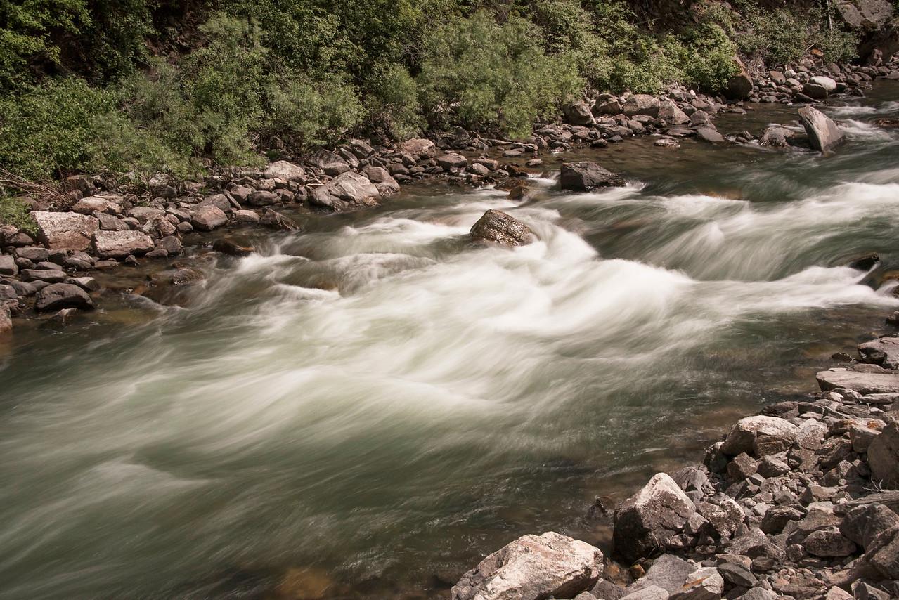 Gallatin River rushing