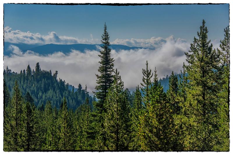 Morning Fog over Big Sky valley