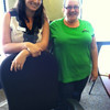 Two of Montana FCU's Member Service Representatives, Rosa and Sara, pause to show off their jeans.