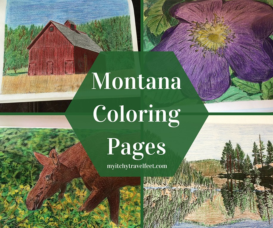 Downloadable coloring pages of Montana.