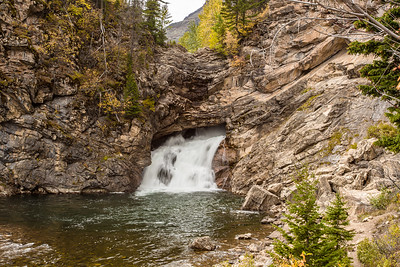 Glacier National Park - Two Medicine Area - Running Eagle Falls-1131-1
