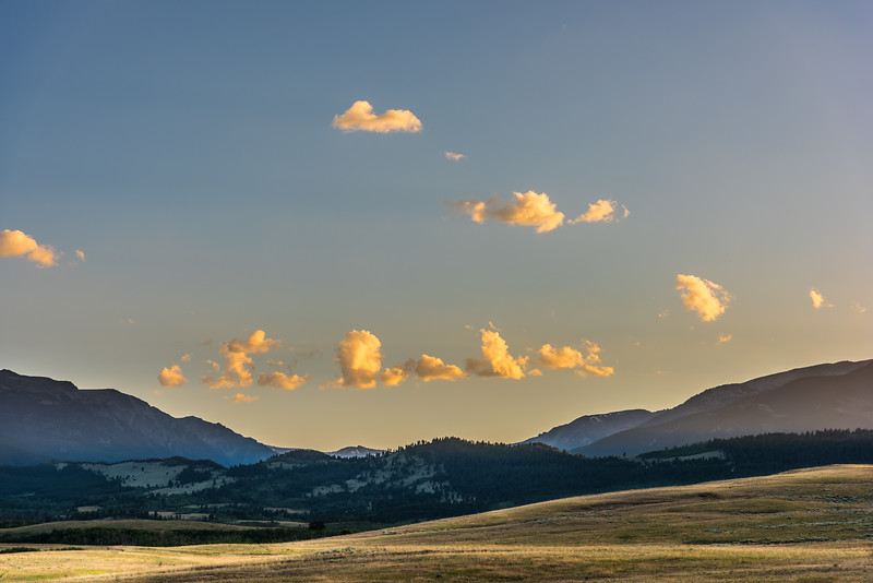 Custer - Gallatin National Forest, Montana near east and west Rosebud Creeks