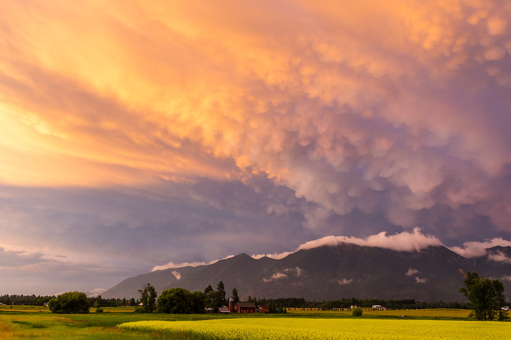 Storm Clouds at Sunset in the Flathead Valley