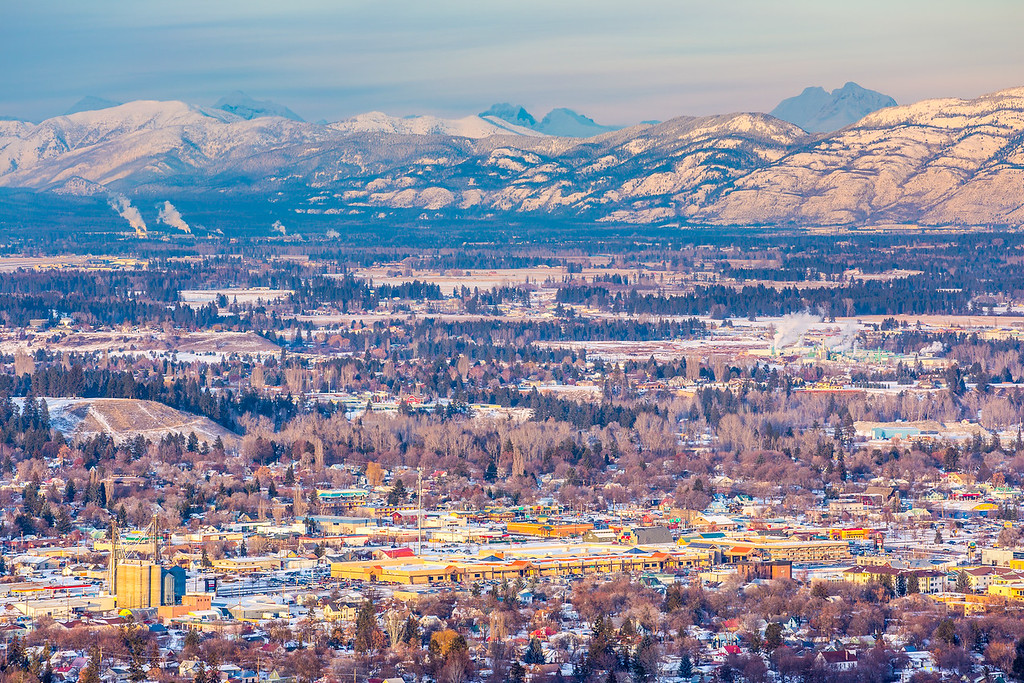 Kalispell, Montana in Winter