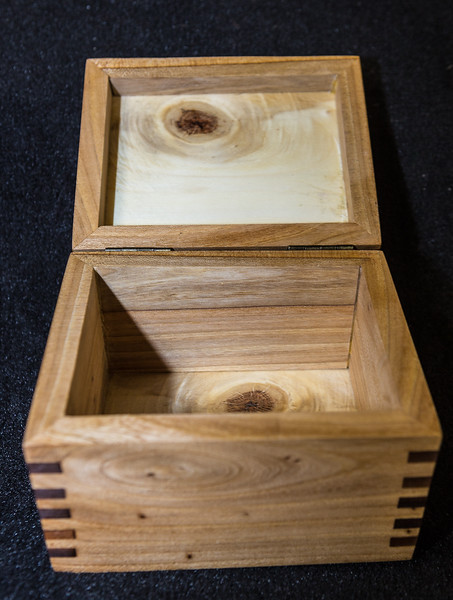 These boxes are made with Montana Elm and Walnut $30