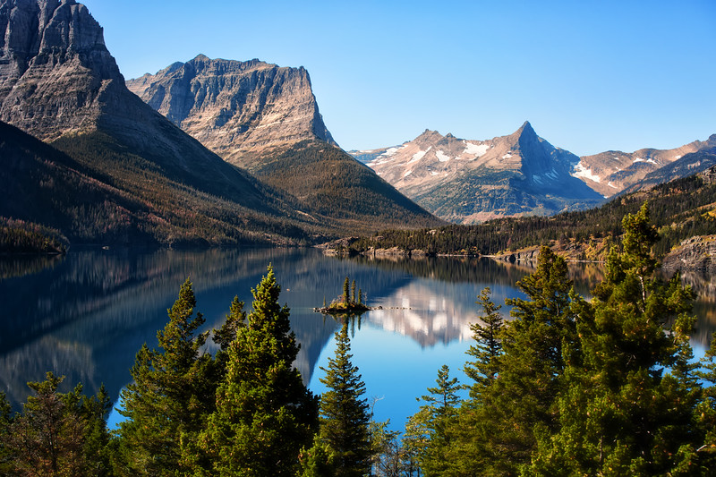 St Mary's Lake, Glacier National  Park