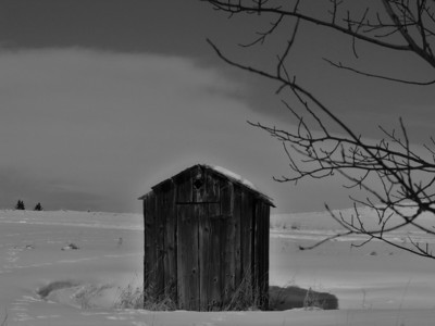 Black and White Montana Barn